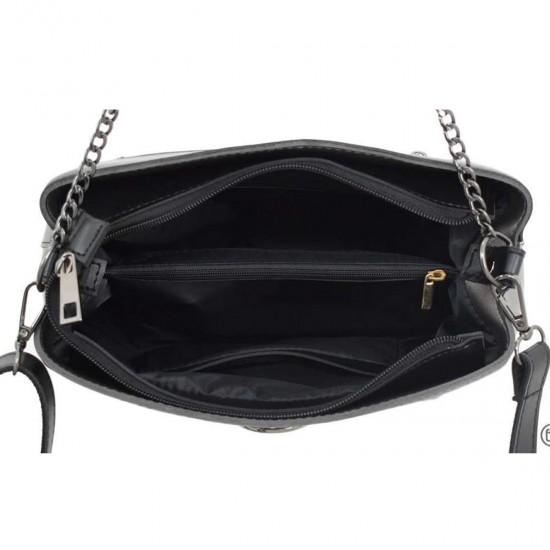 Жіноча модельна сумочка LUCHERINO 628 срібло