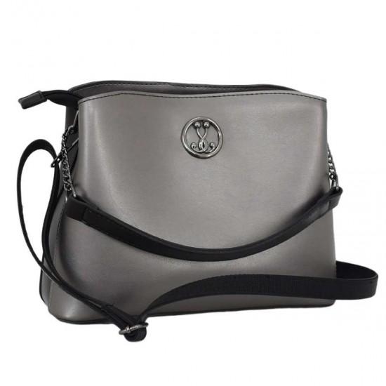 Женская модельная сумочка LUCHERINO 628 серебро