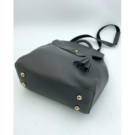 Женский рюкзак WELASSIE Сердце серый