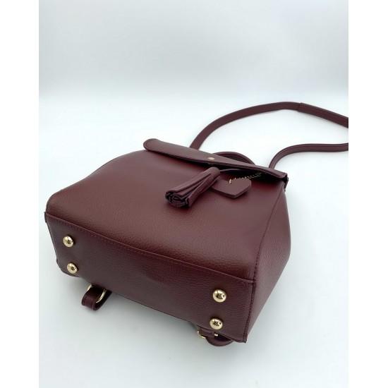 Женский рюкзак WELASSIE Сердце бордовый