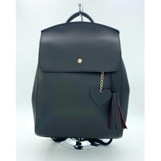 Жіночий рюкзак WELASSIE Серце чорний