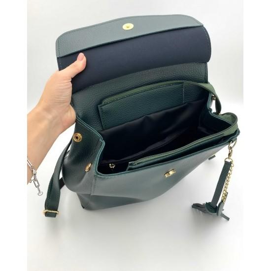Женский рюкзак WELASSIE Сердце зеленый