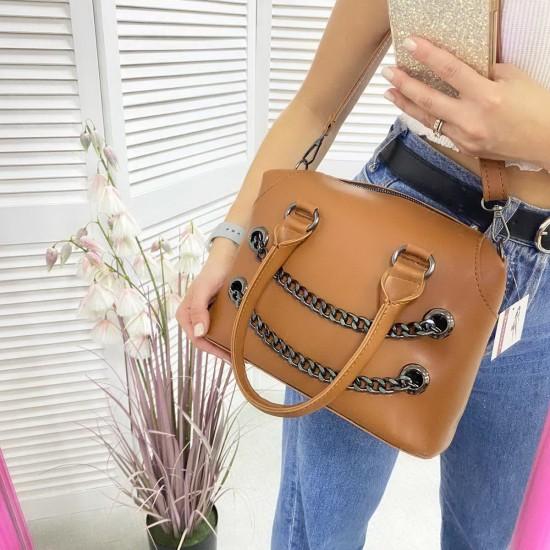 Жіноча модельна сумочка WELASSIE Jean рудий