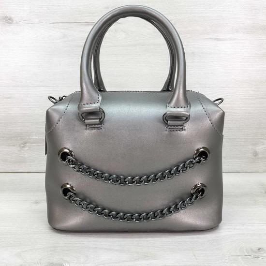 Женская модельная сумочка WELASSIE Jean серебро