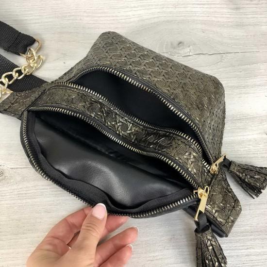 Жіноча сумочка на пояс WELASSIE Елен золотий