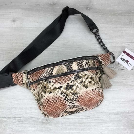 Жіноча сумочка на пояс WELASSIE Елен бежевий