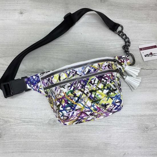 Жіноча сумочка на пояс WELASSIE Елен абстракція