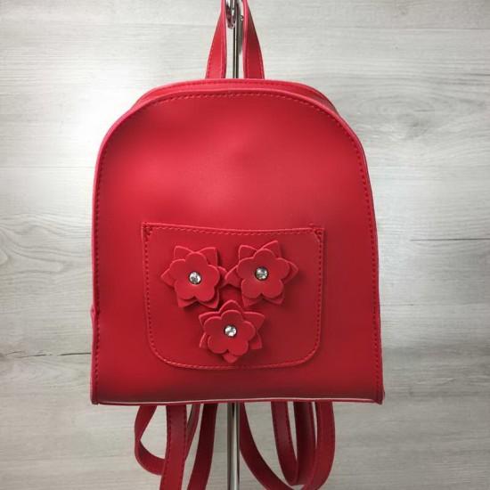 Женский рюкзак WELASSIE Цветы красный