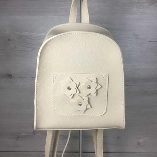 Жіночий рюкзак WELASSIE Квіти бежевий