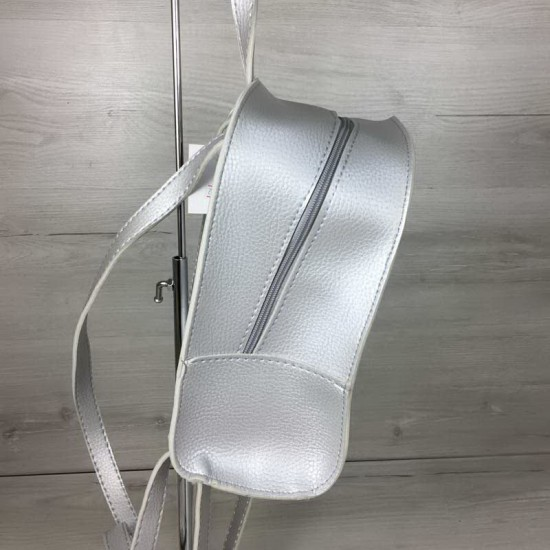 Жіночий рюкзак WELASSIE Квіти срібло