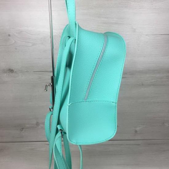 Женский рюкзак WELASSIE Цветы мятный