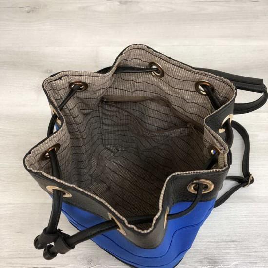 Женский сумка-рюкзак WELASSIE Резинка синий