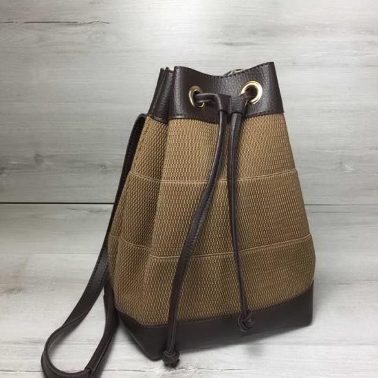 Жіночий сумка-рюкзак WELASSIE Гумка коричневий