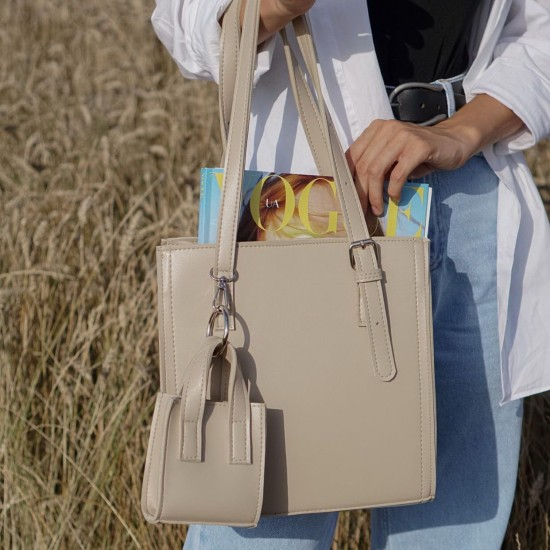 Жіноча модельна сумка + косметичка LARGONI 2140 чорний