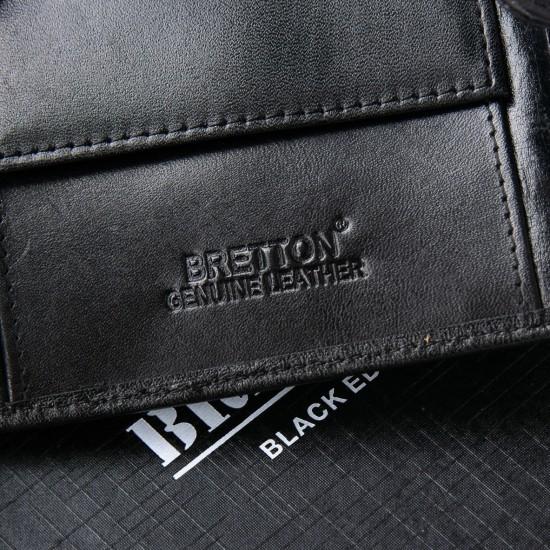 Мужской кожаный портмоне BRETTON Crocodile M3451 черный