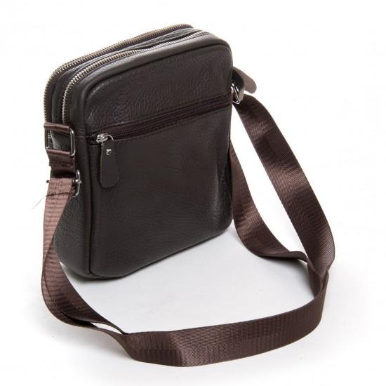Мужская сумка-планшет из натуральной кожи dr.Bond 1201кофейный