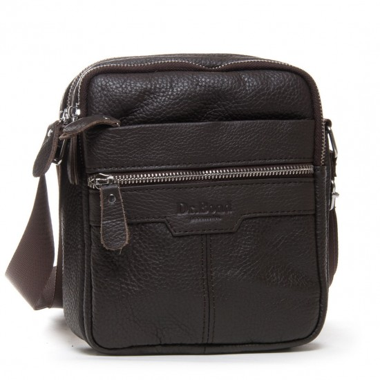 Мужская сумка-планшет из натуральной кожи dr.Bond 8016 кофейный