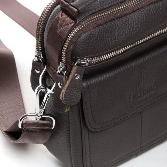 Чоловіча сумка-планшет з натуральної шкіри dr.Bond 20811 кавовий