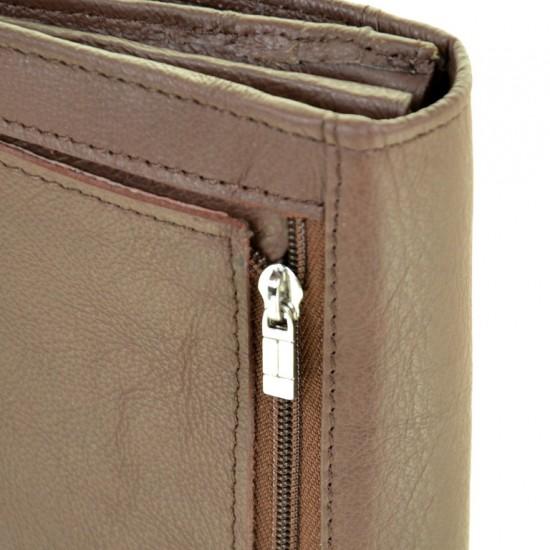 Женский кожаный кошелек dr.Bond Classic WS-1 кофейный
