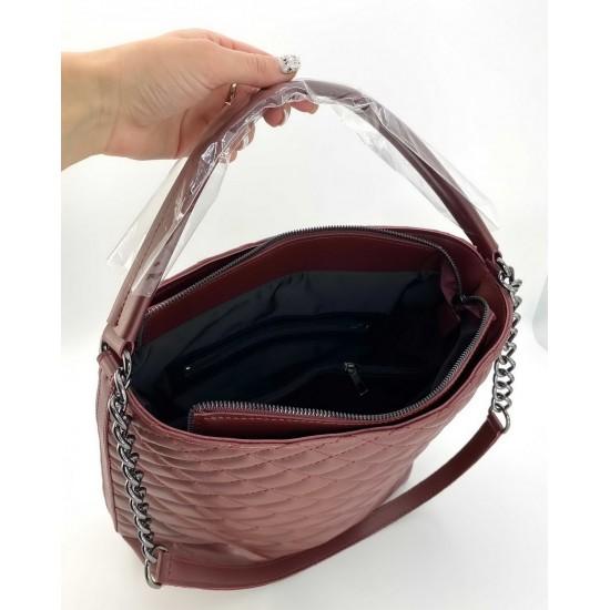 Женская модельная сумка WELASSIE Эрмин бордовый