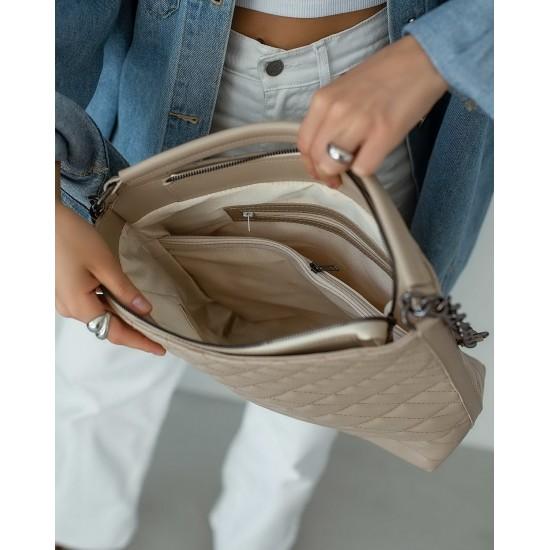Женская модельная сумка WELASSIE Эрмин бежевый