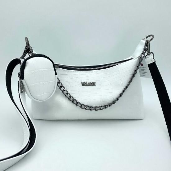 Женская сумка через плечо WELASSIE Лойс белый