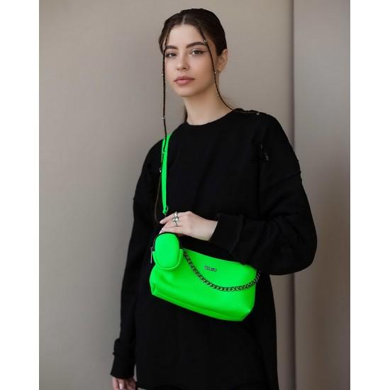 Жіноча сумка через плече WELASSIE Лойс зелений