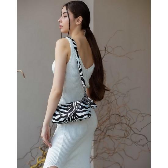 Жіноча сумка через плече WELASSIE Лойс зебра