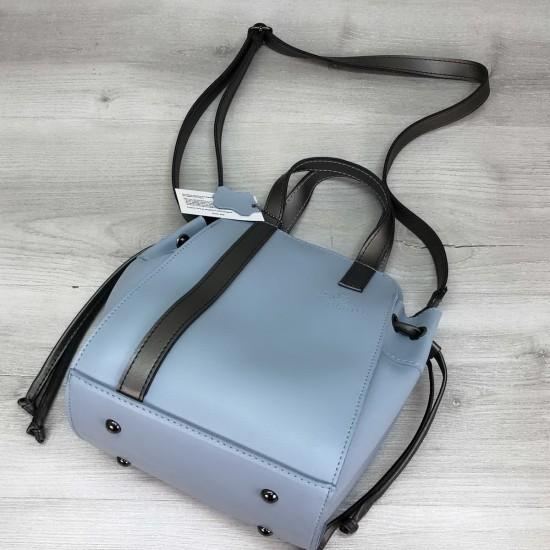 Женская модельная сумочка + косметичка OLETO Alex голубой