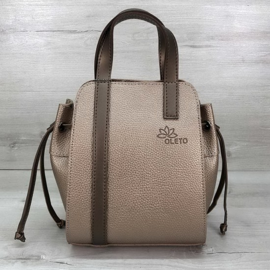 Жіноча модельна сумочка + косметичка OLETO Alex золотий