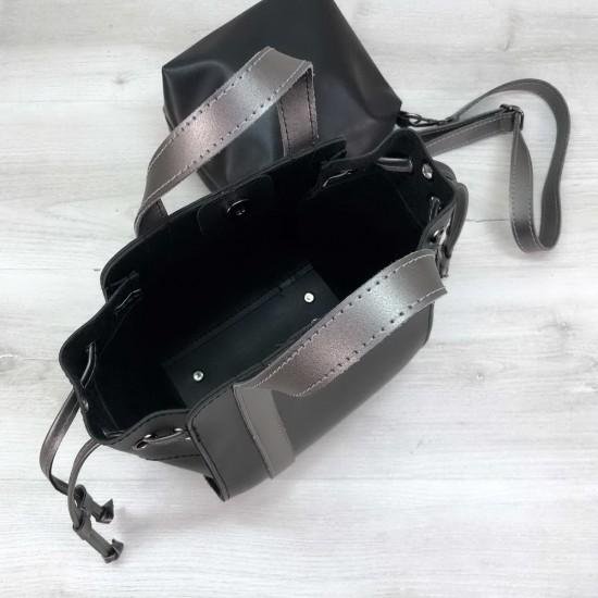 Жіноча модельна сумочка + косметичка OLETO Alex чорний