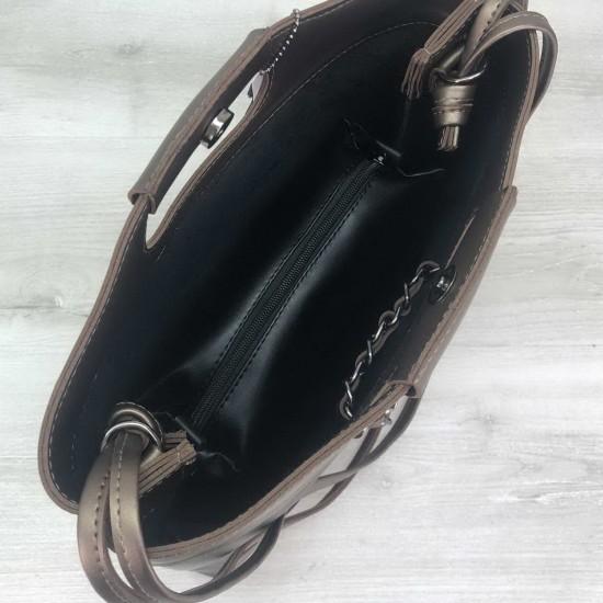 Жіноча модельна сумка + косметичка OLETO Mishel чорний
