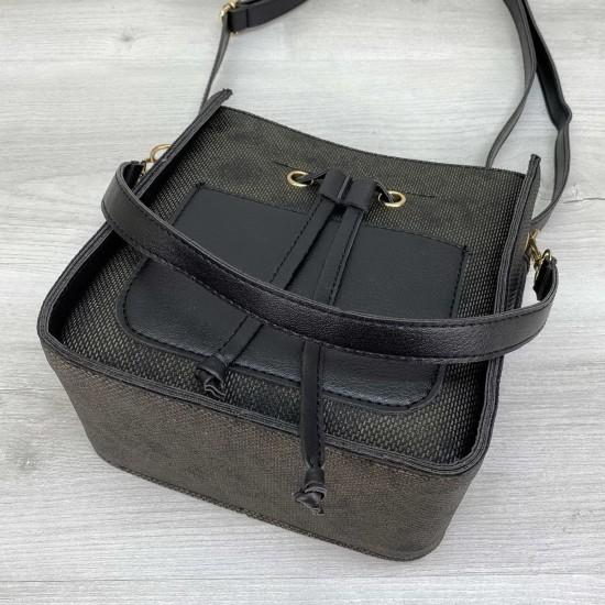 Жіноча сумка через плече WELASSIE Manon чорний