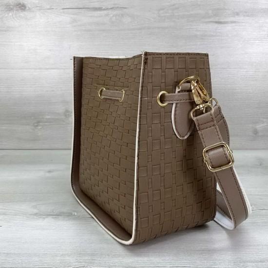 Жіноча сумка через плече WELASSIE Manon коричневий