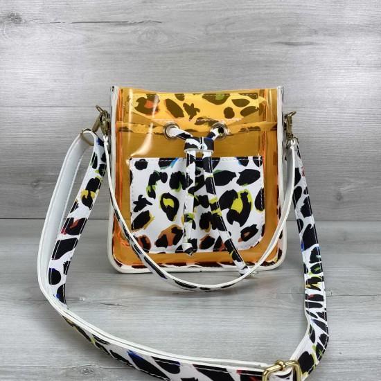 Женская сумка через плечо WELASSIE Manon силикон оранжевый
