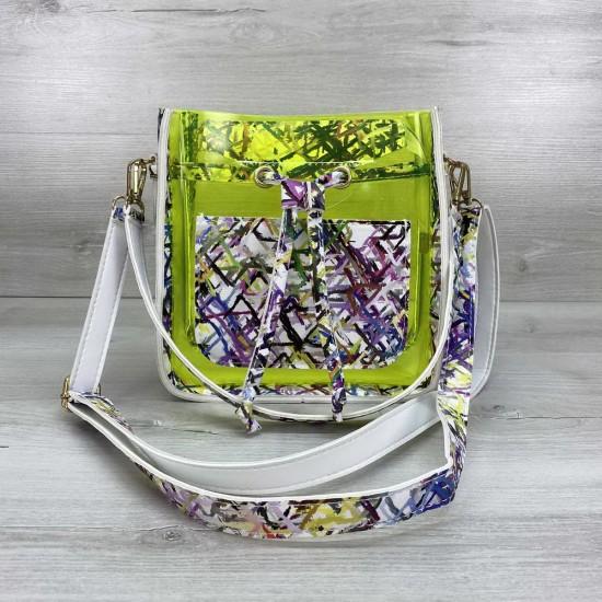 Женская сумка через плечо WELASSIE Manon силикон зеленый