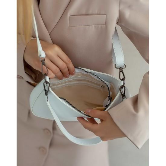 Женская сумка через плечо WELASSIE Флэр белый