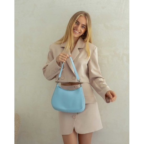 Жіноча сумка через плече WELASSIE Флер блакитний