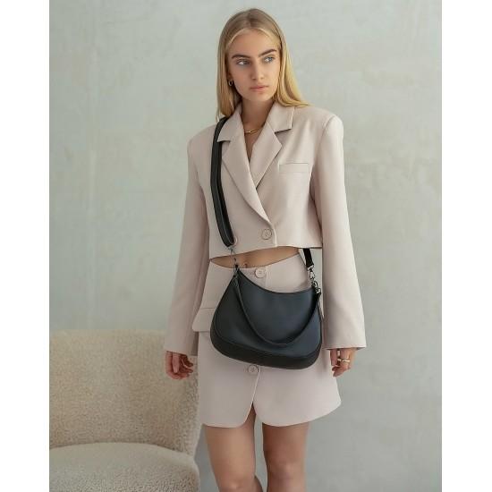 Жіноча сумка через плече WELASSIE Флер чорний