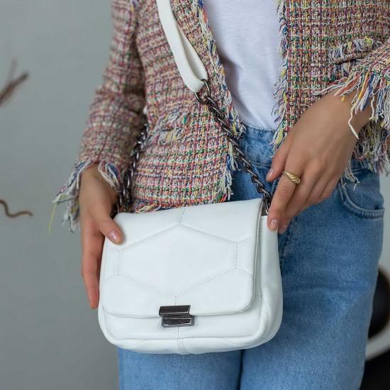 Женская сумка через плечо WELASSIE Санди белый