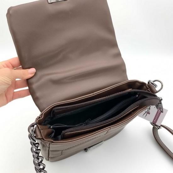 Женская сумка через плечо WELASSIE Санди шоколадный