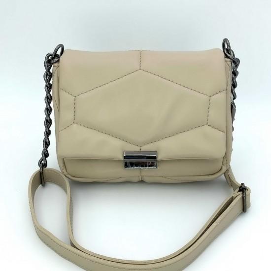 Женская сумка через плечо WELASSIE Санди бежевый