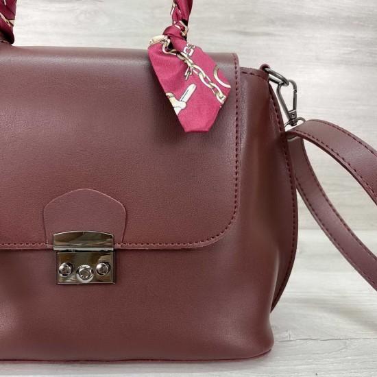 Женская модельная сумочка WELASSIE Лиам бордовый