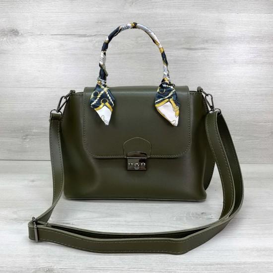 Жіноча модельна сумочка WELASSIE Ліам оливковий