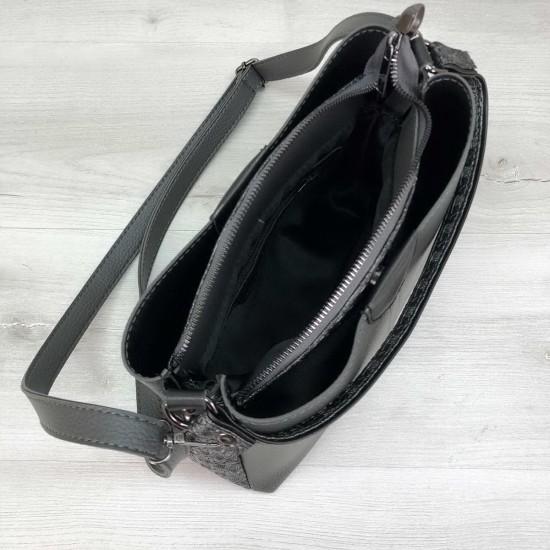 Женская модельная сумка на три отделения WELASSIE Илина серый