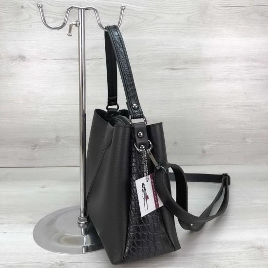 Женская модельная сумка на три отделения WELASSIE Илина черный