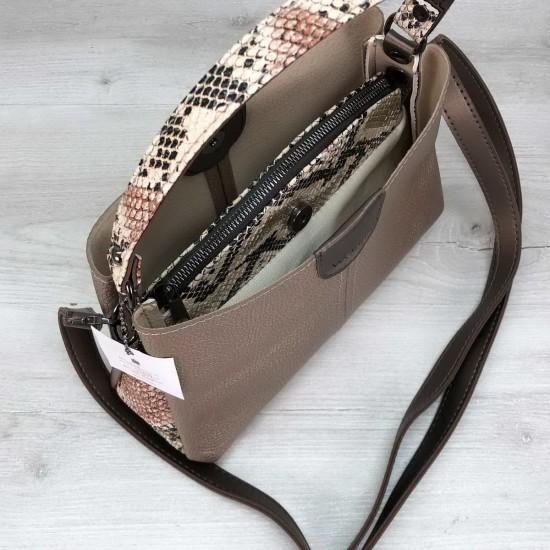 Женская модельная сумка на три отделения WELASSIE Илина золотой