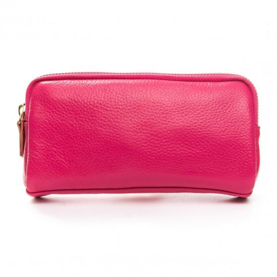 Жіноча косметичка з натуральної шкіри ALEX RAI 6003 рожевий