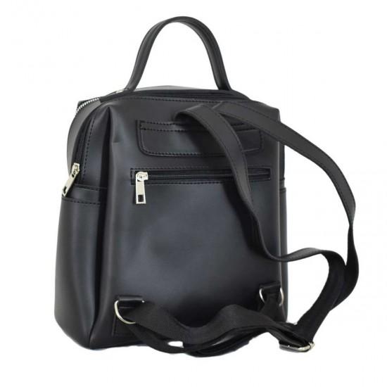 Женская рюкзак LUCHERINO 660 черный крокодил