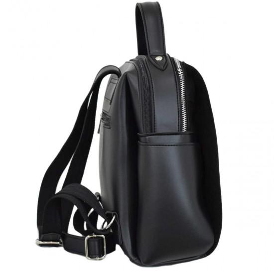 Жіноча рюкзак з натуральної замші LUCHERINO 660 чорний